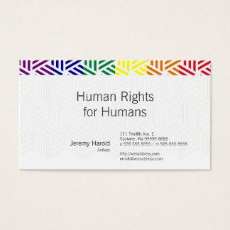Bandera isométrica del arco iris de la armadura tarjetas de visita