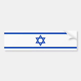 Bandera israelí pegatina de parachoque