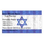 Bandera israelí de madera plantilla de tarjeta personal