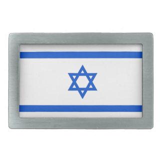Bandera israelí hebillas de cinturón rectangulares