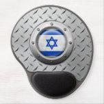 Bandera israelí industrial con el gráfico de acero alfombrilla con gel