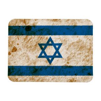 Bandera israelí rugosa imán de vinilo