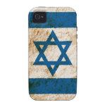 Bandera israelí rugosa iPhone 4 carcasa