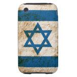 Bandera israelí rugosa tough iPhone 3 carcasas