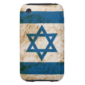 Bandera israelí rugosa tough iPhone 3 funda