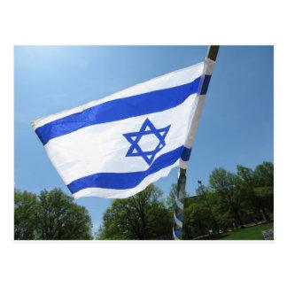Bandera israelí tarjetas postales