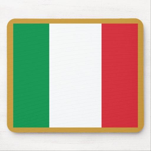 Bandera italiana alfombrilla de ratones
