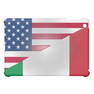 Bandera italiana americana H Tela-Embutido cabido