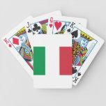 Bandera italiana barajas de cartas