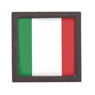 Bandera italiana cajas de joyas de calidad