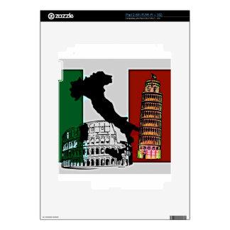 Bandera italiana calcomanía para iPad 2