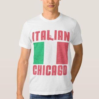 Bandera italiana Chicago Playera