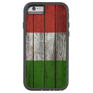 Bandera italiana con efecto de madera áspero del