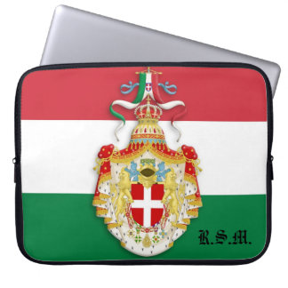 Bandera italiana con la manga del ordenador portát mangas computadora