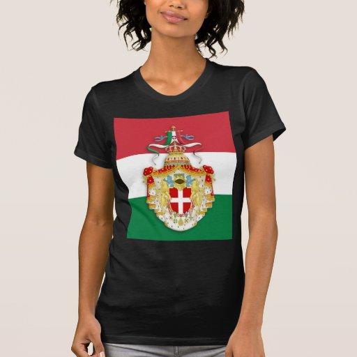 Bandera italiana con las insignias del Reino de It Camisetas