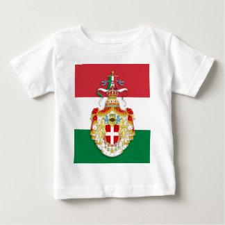 Bandera italiana con las insignias del Reino de Playera Para Bebé