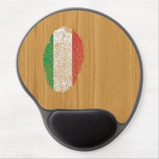 Bandera italiana de la huella dactilar del tacto alfombrilla con gel