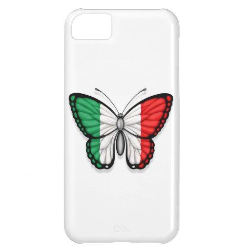 Bandera italiana de la mariposa funda para iPhone 5C
