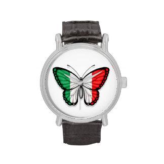 Bandera italiana de la mariposa reloj