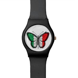 Bandera italiana de la mariposa relojes