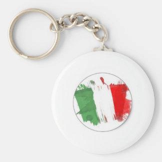 Bandera italiana de la moda llavero redondo tipo pin