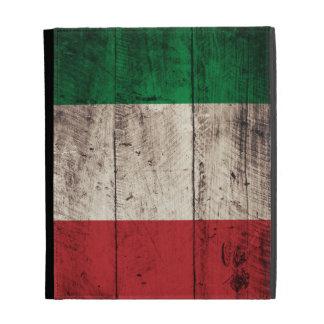 Bandera italiana de madera vieja;
