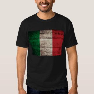 Bandera italiana de madera vieja; poleras