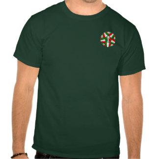 Bandera italiana del balón de fútbol de Italia de  Camiseta