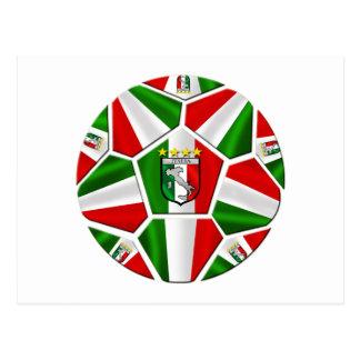 Bandera italiana del balón de fútbol de Italia de  Tarjetas Postales