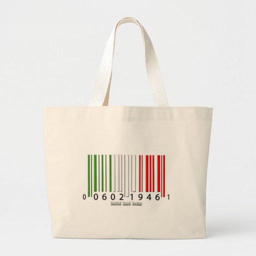 Bandera italiana del código de barras bolsas