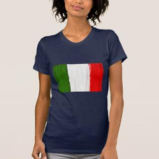 Bandera italiana del estilo de la pintura al óleo camisetas