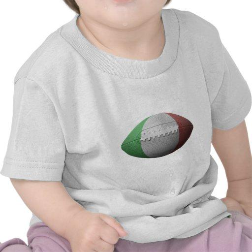 Bandera italiana del fútbol camisetas
