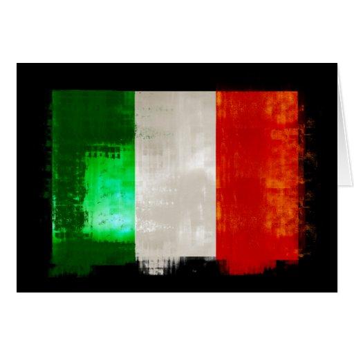Bandera italiana del Grunge del estilo retro del Tarjeta De Felicitación