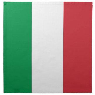 Bandera italiana en la servilleta de MoJo