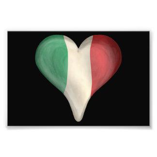 Bandera italiana en un corazón fotografía