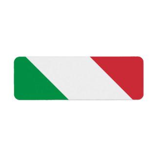 Bandera italiana etiqueta de remite