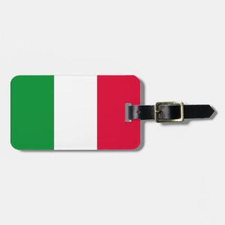 Bandera italiana etiqueta de equipaje