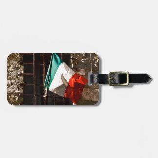 Bandera italiana etiqueta para equipaje
