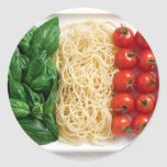 Bandera italiana etiquetas redondas