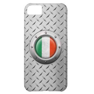 Bandera italiana industrial con el gráfico de acer funda para iPhone 5C