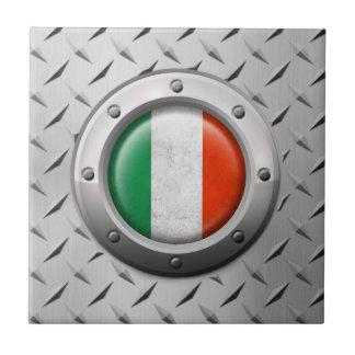 Bandera italiana industrial con el gráfico de azulejo cerámica