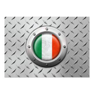 """Bandera italiana industrial con el gráfico de invitación 5"""" x 7"""""""