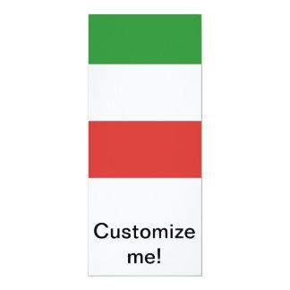 """Bandera italiana invitación 4"""" x 9.25"""""""
