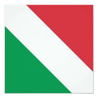 """Bandera italiana invitación 5.25"""" x 5.25"""""""