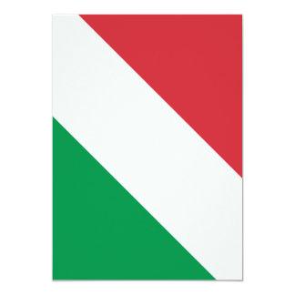 """Bandera italiana invitación 5"""" x 7"""""""