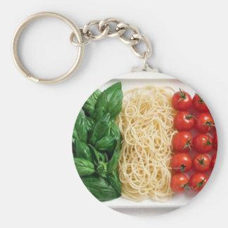 Bandera italiana llavero redondo tipo pin
