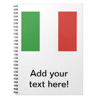 Bandera italiana note book