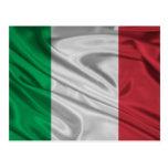 Bandera italiana orgullosa y patriótica tarjetas postales