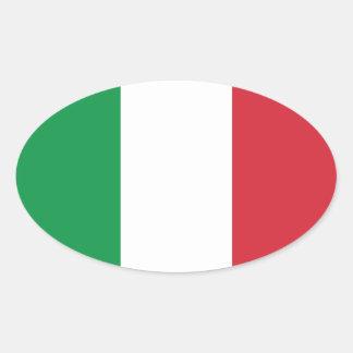 Bandera italiana pegatinas de óval personalizadas