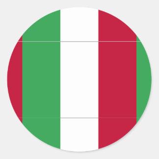 BANDERA ITALIANA PEGATINA REDONDA